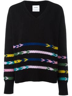 трикотажный свитер с v-образным вырезом Barrie