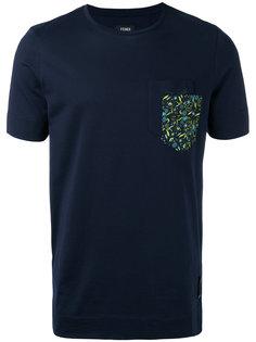 футболка с контрастной отделкой Fendi