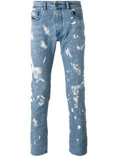 джинсы с эффектом разбрызганной краски Diesel Black Gold