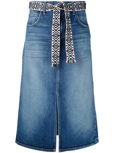 джинсовая юбка миди Current/Elliott