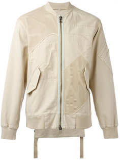 куртка-бомбер  лоскутного кроя Helmut Lang
