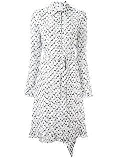платье-рубашка с принтом вишен Altuzarra