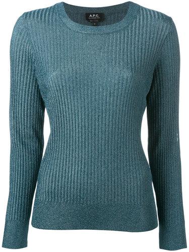 приталенный свитер с круглым вырезом A.P.C.