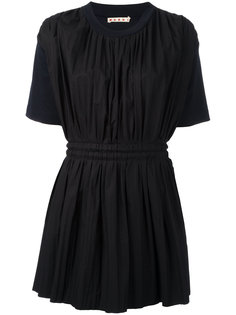 плиссированное платье шифт Marni