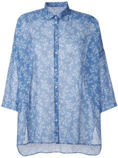 рубашка с цветочным принтом Massimo Alba