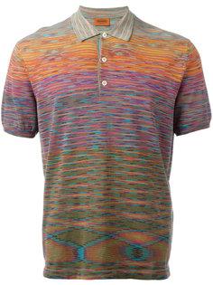 футболка-поло с размытым принтом Missoni