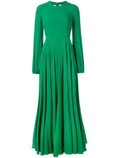 длинное платье с плиссированной юбкой Nº21