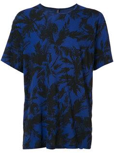palm tree print T-shirt  Attachment