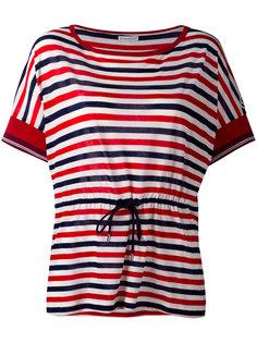 полосатая футболка с завязками на талии Moncler