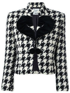 houndstooth jacket Moschino Vintage