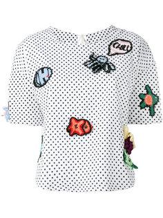 блузка в горох с заплатками Michaela Buerger