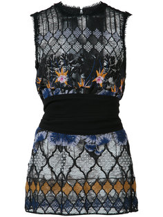 tropical embroidered lace top Yigal Azrouel