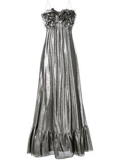 вечернее платье с металлическим отблеском Daniele Carlotta