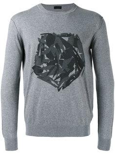 fox print sweatshirt Z Zegna