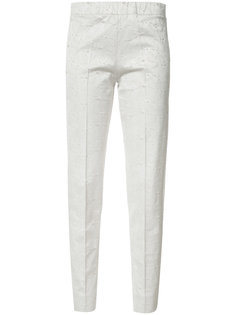 geometric pattern tapered trousers D.Exterior