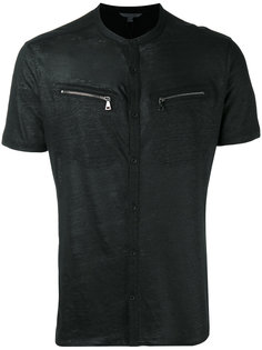 zip pocket T-shirt John Varvatos