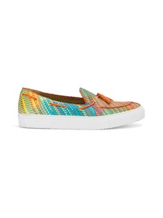stitched stripe loafer sneakers Raparo