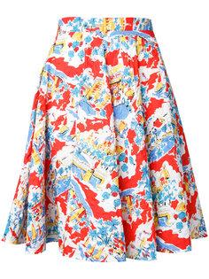flower A-line skirt  Mikio Sakabe