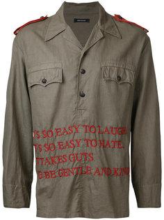 куртка-рубашка с вышитыми надписями Christian Dada