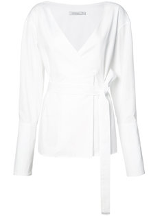 belted wrap blouse  Protagonist