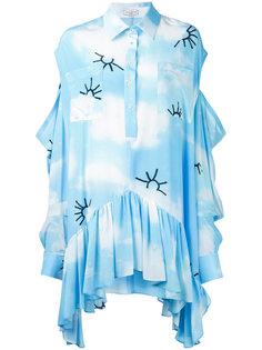 платье кафтан с принтом облаков Natasha Zinko