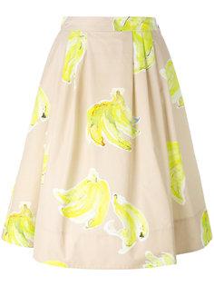 юбка миди с принтом бананов MSGM