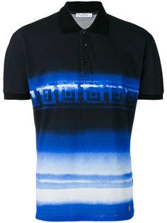 полосатая рубашка-поло Greca Versace
