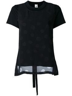 layered dotted T-shirt Comme Des Garçons Noir Kei Ninomiya