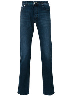stonewashed slim-fit jeans Jacob Cohen