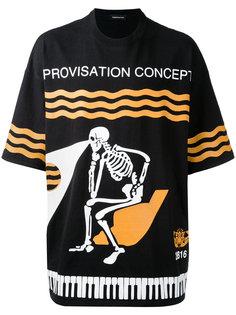 футболка с принтом скелета  Undercover