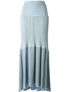 multi-pleats checked skirt Sonia Rykiel