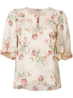 floral ruffle trim blouse Vilshenko
