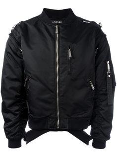 куртка-бомбер с молниями Icosae