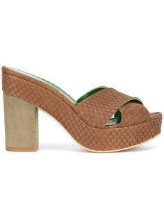 embossed platform sandals Danielapi