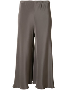 cropped silk trousers  Peter Cohen