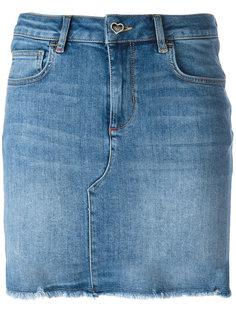джинсовая юбка с необработанными краями Twin-Set