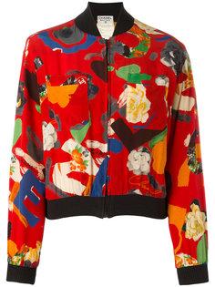 floral bomber jacket Chanel Vintage