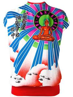 Buddha print top Kansai Yamamoto Vintage