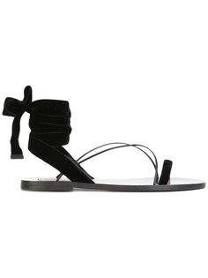 сандалии Valentino Garavani с завязкой на щиколотке  Valentino