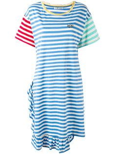 платье-футболка с контрастными рукавами Tsumori Chisato