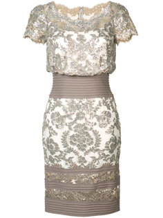 платье с цветочным узором из пайеток Tadashi Shoji