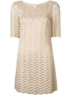 metallic zigzag T-shirt dress Alice+Olivia