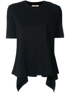 футболка с волнистым подолом Marni