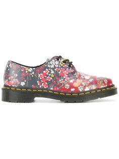 floral print lace up shoes  Dr. Martens