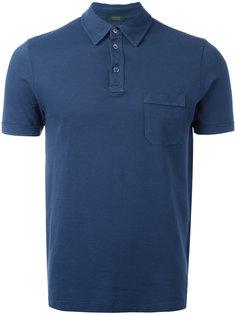 рубашка-поло с нагрудным карманом Zanone