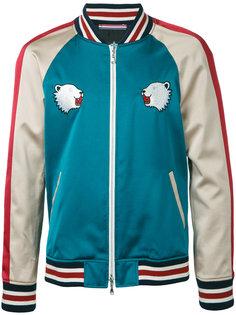 куртка-бомбер  с заплатками в виде медведей Guild Prime