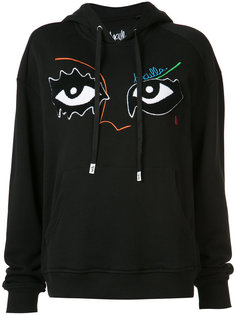 eye embroidered hoody Haculla