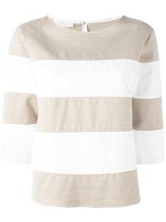 striped three-quarter sleeve top Barba