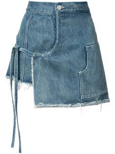 джинсовые шорты-юбка Sandy Liang