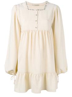 платье с отделкой бусинами Amen Amen.